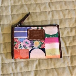 Multicolor Coach Card Wallet